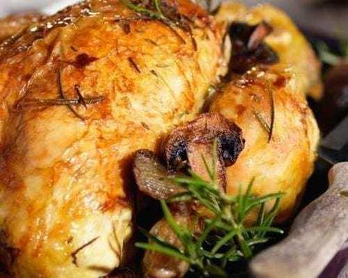 Poulet rôti et ses pommes grenailles