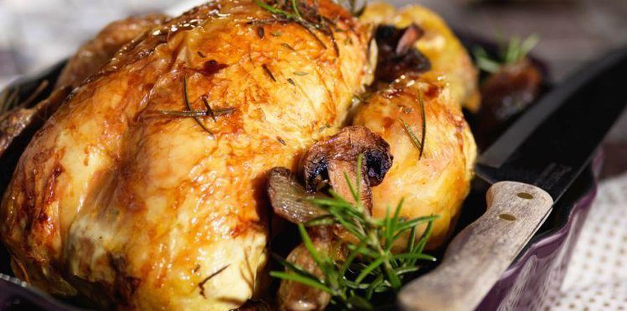 1/4 poulet rôti ariègeois et se frites