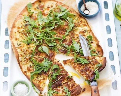 Œufs brouillés aux asperges et parmesan